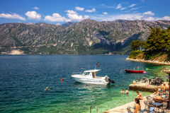 Compartiment de Kotor Photographie stock