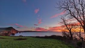 Compartiment de Ladram, Devon du sud, Angleterre photographie stock libre de droits