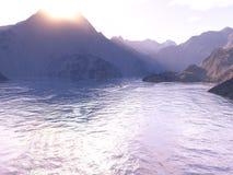 Compartiment de lever de soleil illustration libre de droits