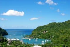 Compartiment de Marigot - St Lucia Images libres de droits