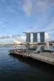 Compartiment de marina de Singapour Images libres de droits