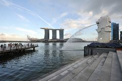 Compartiment de marina de Singapour Photos stock