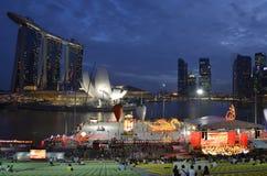 Compartiment de marina de Singapour Photographie stock