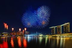 Compartiment de marina, Singapour Photo stock