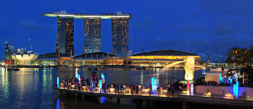 Compartiment de marina, Singapour Images stock