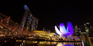 Compartiment de marina - Singapour Photographie stock libre de droits