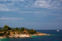 Compartiment de mer d'île de Kerkira Photo stock