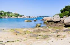 Compartiment de mer sur l'île Ile de Brehat Image stock