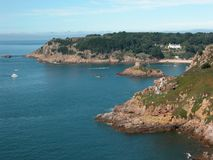 Compartiment de Portelet, Jersey Photos stock