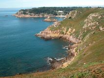 Compartiment de Portelet, Jersey Images stock