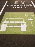 Compartiment de remplissage de véhicule électrique Images libres de droits
