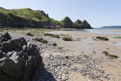 Compartiment de trois falaises Image libre de droits