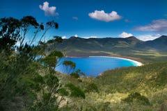 Compartiment de verre à vin en Tasmanie Photographie stock libre de droits