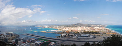 Compartiment du Gibraltar - aéroport Images libres de droits