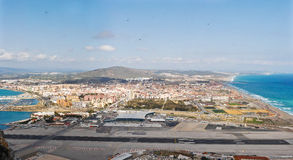 Compartiment du Gibraltar - aéroport Photo stock