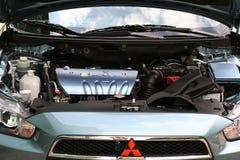 Compartiment moteur de Mitsubishi Mivec Lancer Photographie stock