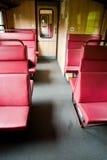 Compartiment op de trein stock afbeeldingen