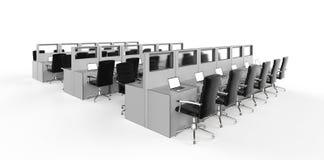 Compartiment ou espace de travail de bureau illustration libre de droits