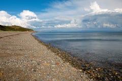 Compartiment Pays de Galles de cardigan de plage de Llanbedrog photo libre de droits