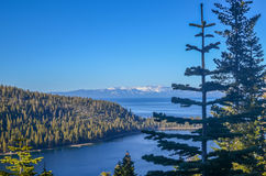 Compartiment vert, Lake Tahoe Photos stock