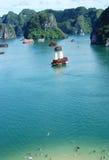 Compartiment Vietnam de Halong photographie stock