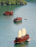 Compartiment Vietnam de Halong image libre de droits