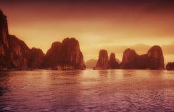 Compartiment Vietnam de Halong images libres de droits