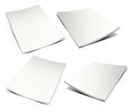 Compartimento branco vazio no branco Fotos de Stock Royalty Free