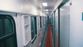 Compartimento del treno di vagone archivi video