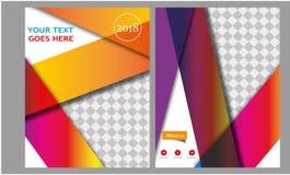 Compartimento do cabeçalho da brochura do folheto da disposição de página da capa do livro do informe anual do molde do negócio d foto de stock royalty free