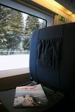 Compartimento que encontra-se na tabela na frente do assento Foto de Stock