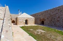 Compartimento Venetian da pólvora na fortaleza do Rio, Peloponnese, Grécia imagens de stock royalty free