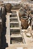 Compartimentos do armazenamento de Knossos Foto de Stock