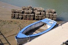 Compartimentos do bote e da ostra imagem de stock
