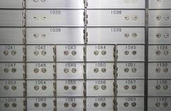 Compartiments de coffre-fort Image stock