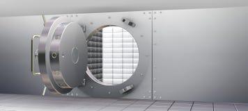 Compartiments de coffre-fort de chambre forte de côté et Photos stock