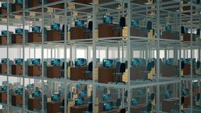 Compartiments vides de bureau banque de vidéos