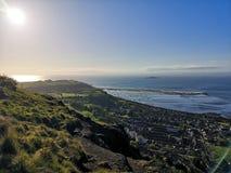 Compartimiento de Burntisland con las vistas del Río Forth foto de archivo libre de regalías