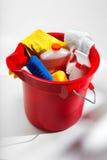 Compartimiento de fuentes de limpieza Foto de archivo