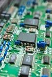 Compartimiento de la placa de circuito. Imagen de archivo