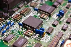 Compartimiento de la placa de circuito. Fotografía de archivo