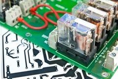 Compartimiento de la placa de circuito. Imagenes de archivo