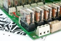 Compartimiento de la placa de circuito. Foto de archivo libre de regalías