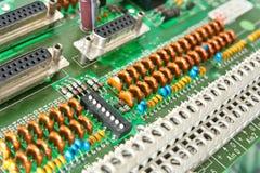 Compartimiento de la placa de circuito. Foto de archivo