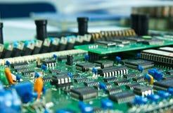 Compartimiento de la tarjeta de circuitos. Fotografía de archivo