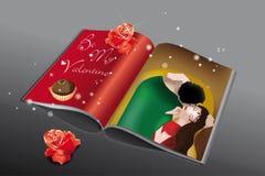 Compartimiento de la tarjeta del día de San Valentín Imágenes de archivo libres de regalías