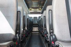 Compartimiento de pasajero de un servicio de autobús grande Foto de archivo libre de regalías