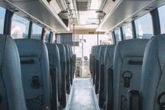 Compartimiento de pasajero de un servicio de autobús grande Fotografía de archivo