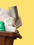Compartimiento de reciclaje Imagen de archivo