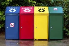 Compartimiento de reciclaje cuatro Imagenes de archivo